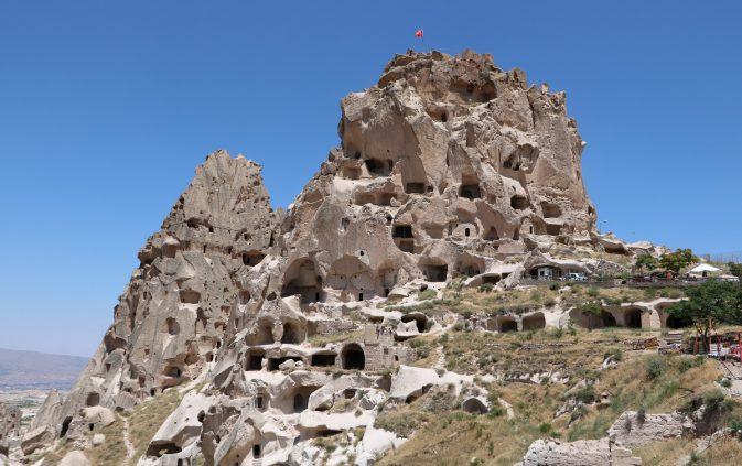 Uçhisar Kalesi'ne Ziyaretler Artıyor