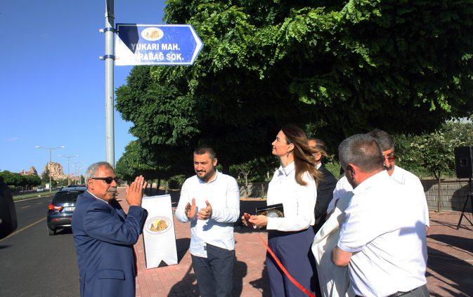 Uçhisar'da 'Karabağ Sokak' açılışı yapıldı
